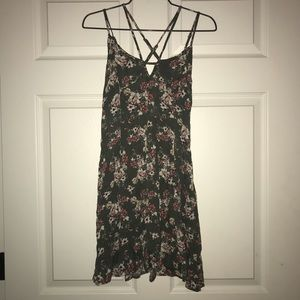 Green Floral American Eagle Dress